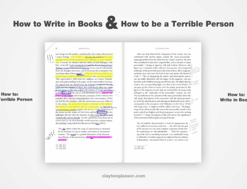 How to Write in Books & How to be a Terrible Person